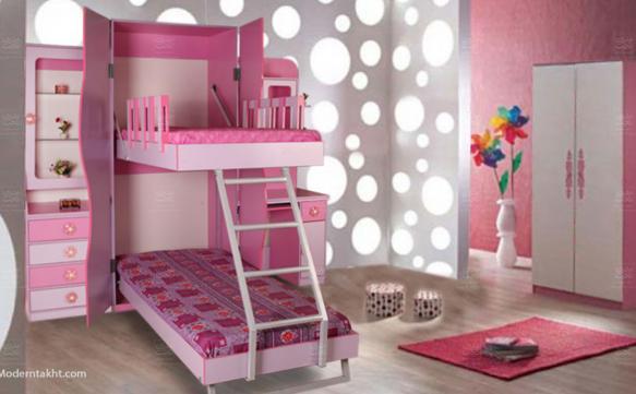 تخت دو طبقه عمودی